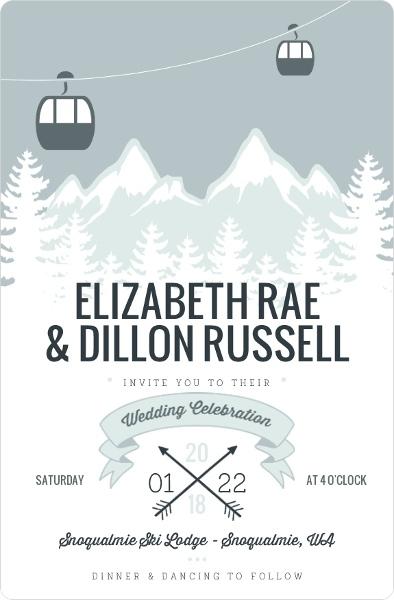 Wedding Invitation Wording Winter Wonderland Holiday Themes