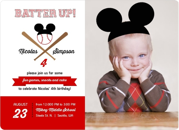 Mickey Mouse Birthday Party Ideas Wording Activities Toddlers Kids – Mickey Mouse 1st Birthday Party Invitations