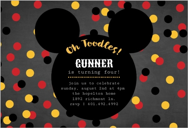 Mickey Mouse Birthday Party Ideas Mickey Mouse Birthday Invitation By Purpletrail Com