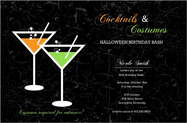 Halloween Party Food Ideas Cocktails DIY Decorations Invitations – Cocktail Party Invitations Templates Free