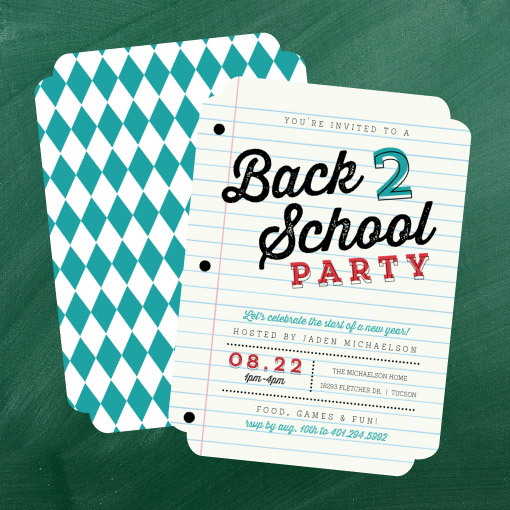 Back To School Party Ideas Invitations Crafts Diy