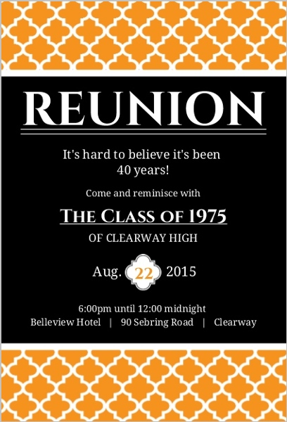 Top 10 Reunion Invitation Designs – Class Reunion Invitation Template