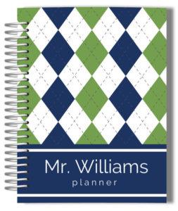 golfer-plaid-custom-teacher-planner
