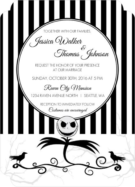 10 Halloween Wedding Ideas That Rock – Halloween Wedding Reception Invitations