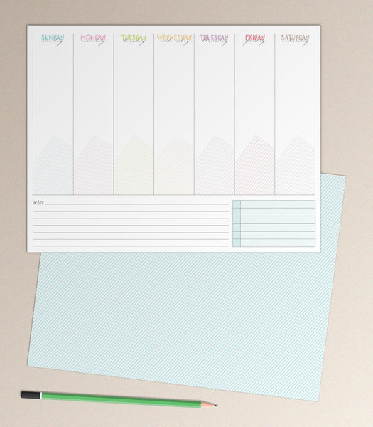 Desk Calendar Design Your Own : New create your own custom notepads purpletrail stationery