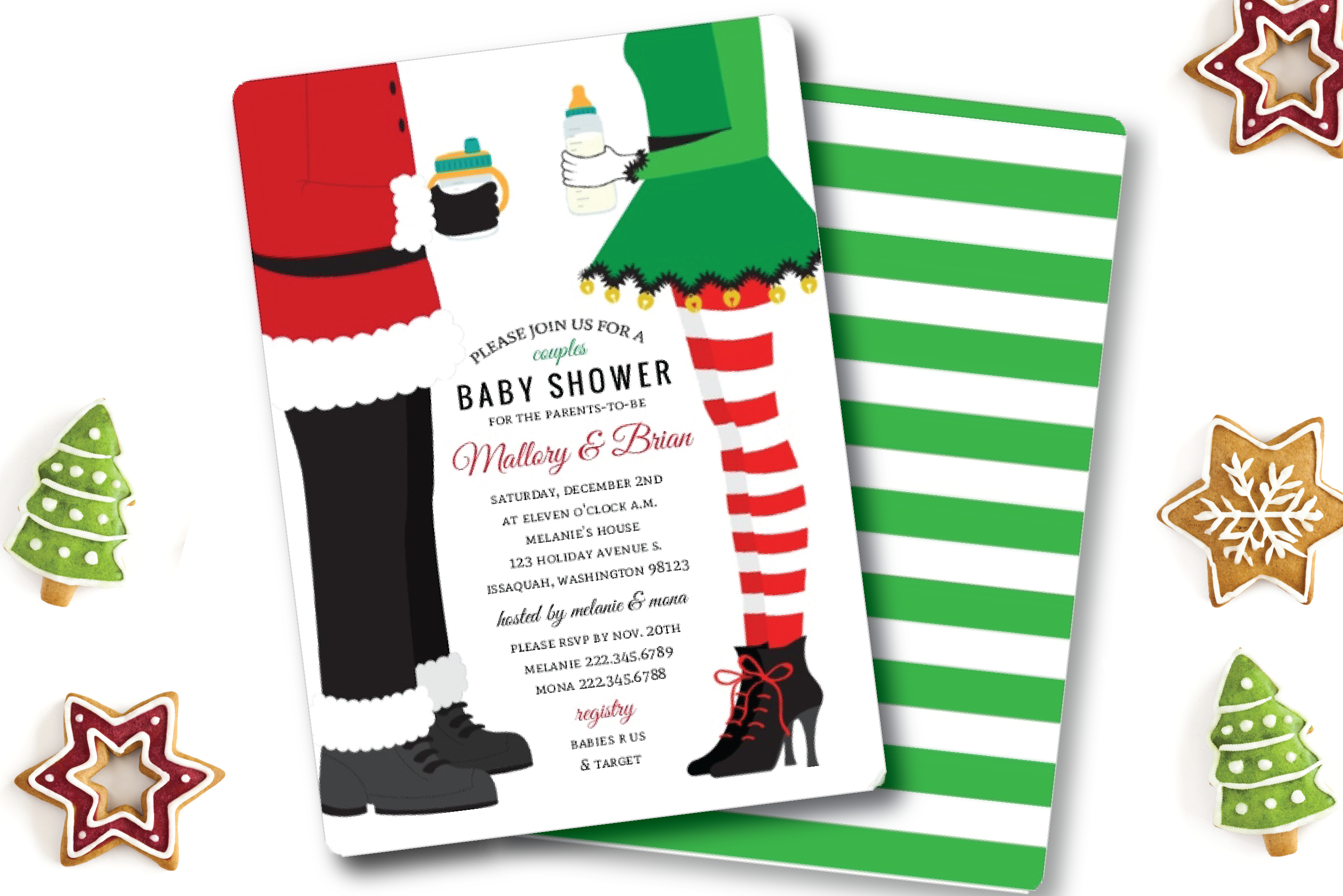 Baby Shower Themes Christmas ~ Top christmas themed baby shower ideas invitation