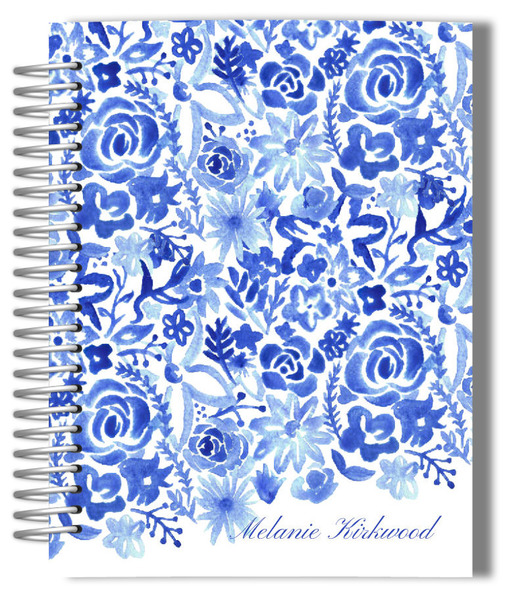 handpainted monthly planner