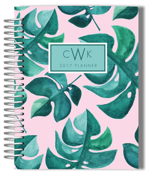 tropical leaves planner