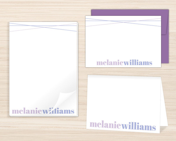 personalized stationery sets purpletrail stationery