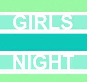 Bold Green Girls Night Invite