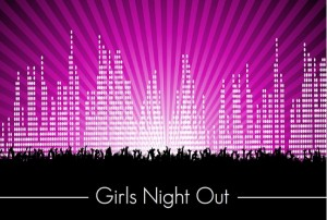 Bright City Lights Girls Night in Invite