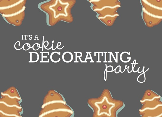 Christmas Cookie Decorating Holiday Party Invitation printable christmas game