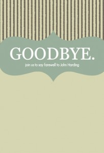 Goodbye Stripes Going Away Party Ideas Invitation