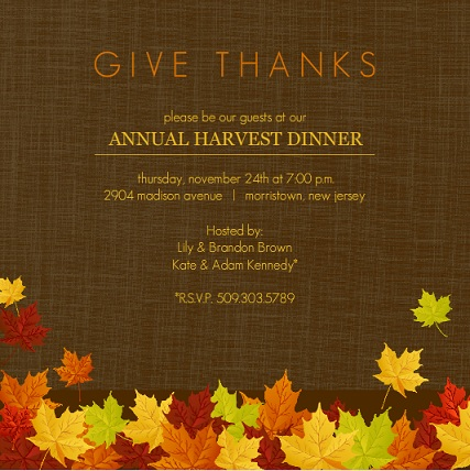 Free Printable Thanksgiving Invitations Templates – Printable Dinner Invitations