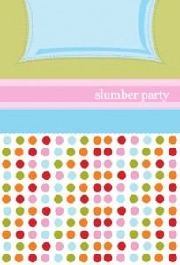 Polka Dots And Pillows Slumber Party Invitation slumber party movies