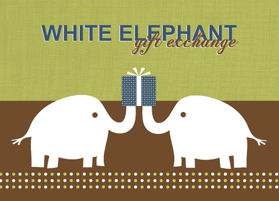 Gift Exchange Idea White Elephant Gift Exchange Holiday Party Invitation