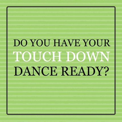 Green Touchdown Dance Football Party Invitation Make Your Own Football Pool