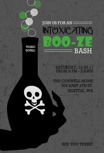 Toxic Potion Adult Halloween Party Invitation printable halloween game