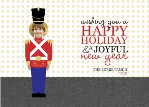 Toy Soldier Cut Out Happy Holiday Photo Card christmas gift basket ideas