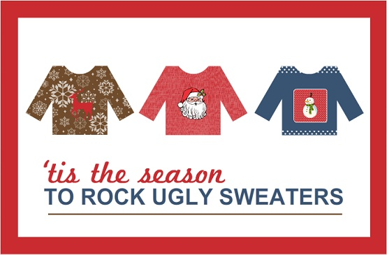 Ugly Sweater Trio Holiday Party Invitation