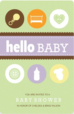 Baby Icons (Set) Neutral Baby Shower Invitation
