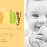 Fall Birth Announcement Wording Ideas