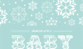 Baby Blue Snow Shower Invitation Printable Baby Shower Games