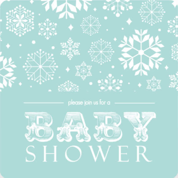 Baby Blue Snow Shower Invitation Baby Shower Planning Guide