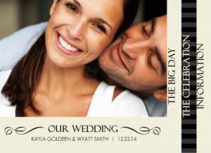 Black And Cream Flourish Wedding Booklet Wedding Invitation Wording Ideas