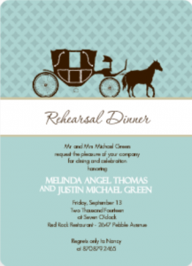 Blue and Brown Fairy Tale (Set) Rehearsal Dinner centerpiece Invite