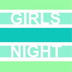 Bold Green Girls Night Invite