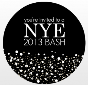 new year's eve celebration ideas from purpletrail, Party invitations