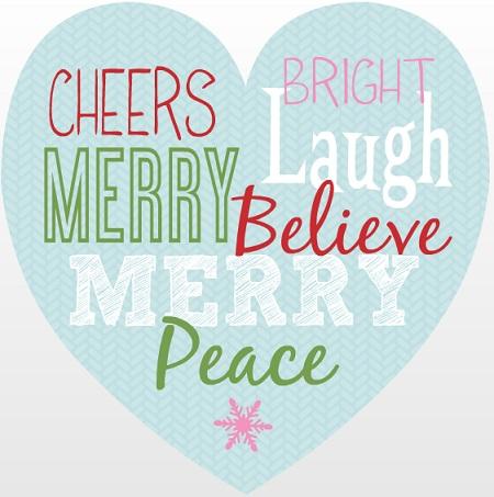Heart Shaped Christmas Cards