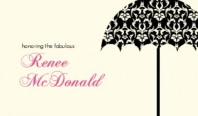 Damask Umbrella Printable Bridal Shower Game Invite