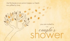 Fall Leaves Couples Shower Ideas Invitation