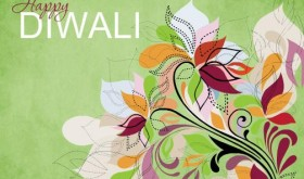 Fancy Floral Diwali Greeting Card