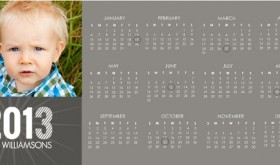 2013 Calendar New Years Cards