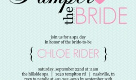 Pampered Pink And Blue Spa Party Invitation Wedding Themed Charades