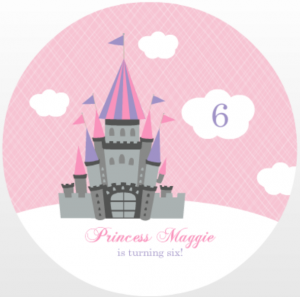 Pink And Cloudy Castle Princess Party (Set) Birthday Invite