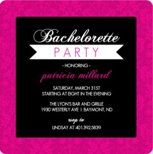 printable bachelorette party game - what would the bride say?, Party invitations