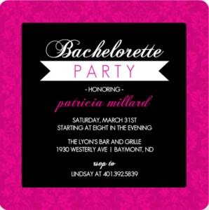 Pink Elegant Damask Bachelorette Party Invitation Printable Bachelorette Party Game