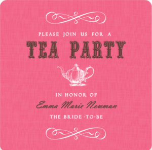 Pink Vintage Tea Pot Tea Party Food Ideas