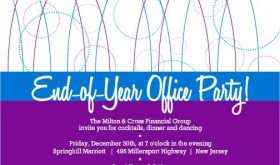 Purple And Blue Geometric Business Holiday Party Invitation