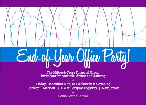 Holiday Party Invitations From PurpleTrail – Business Holiday Party Invitations