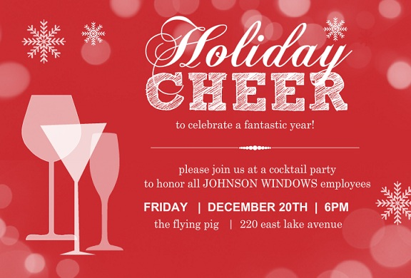 Office Holiday Party Ideas | Business Holiday Party Invitations