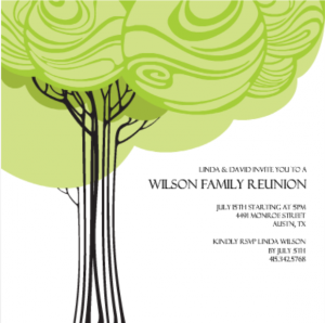 Swirly Family Tree Reunion Invitation Family Reunion Decoration