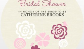 Whimsical Field Of Flowers Printable Bridal Shower Game Invitations