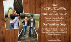 Wooden Picture Perfect Love (Set) Wedding Invitation Wording Ideas
