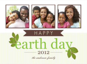 Green Leaves Earth Day Party Ideas Card