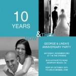 10th Anniversary Invitation Wording